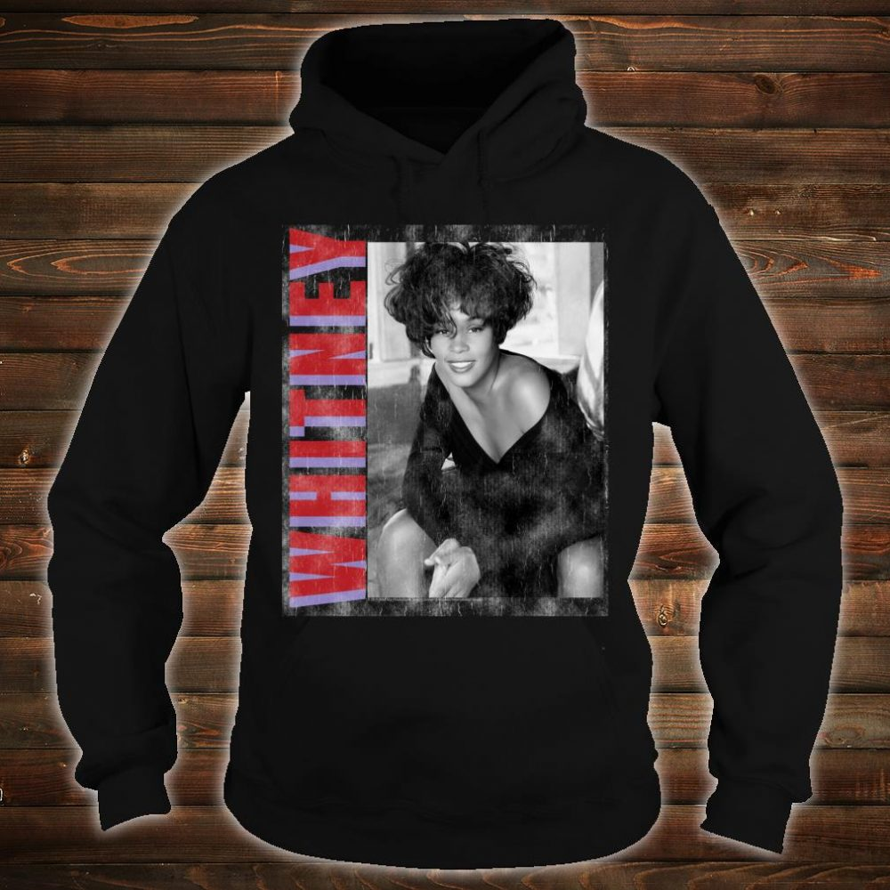Whitney Houston Official Classic Photo Color Text Shirt hoodie