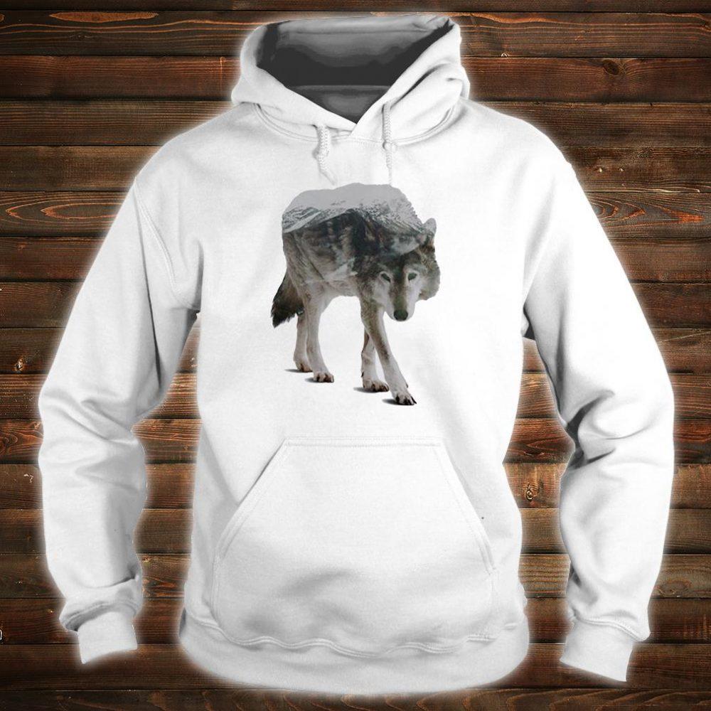 Wolf double seeing shirt hoodie