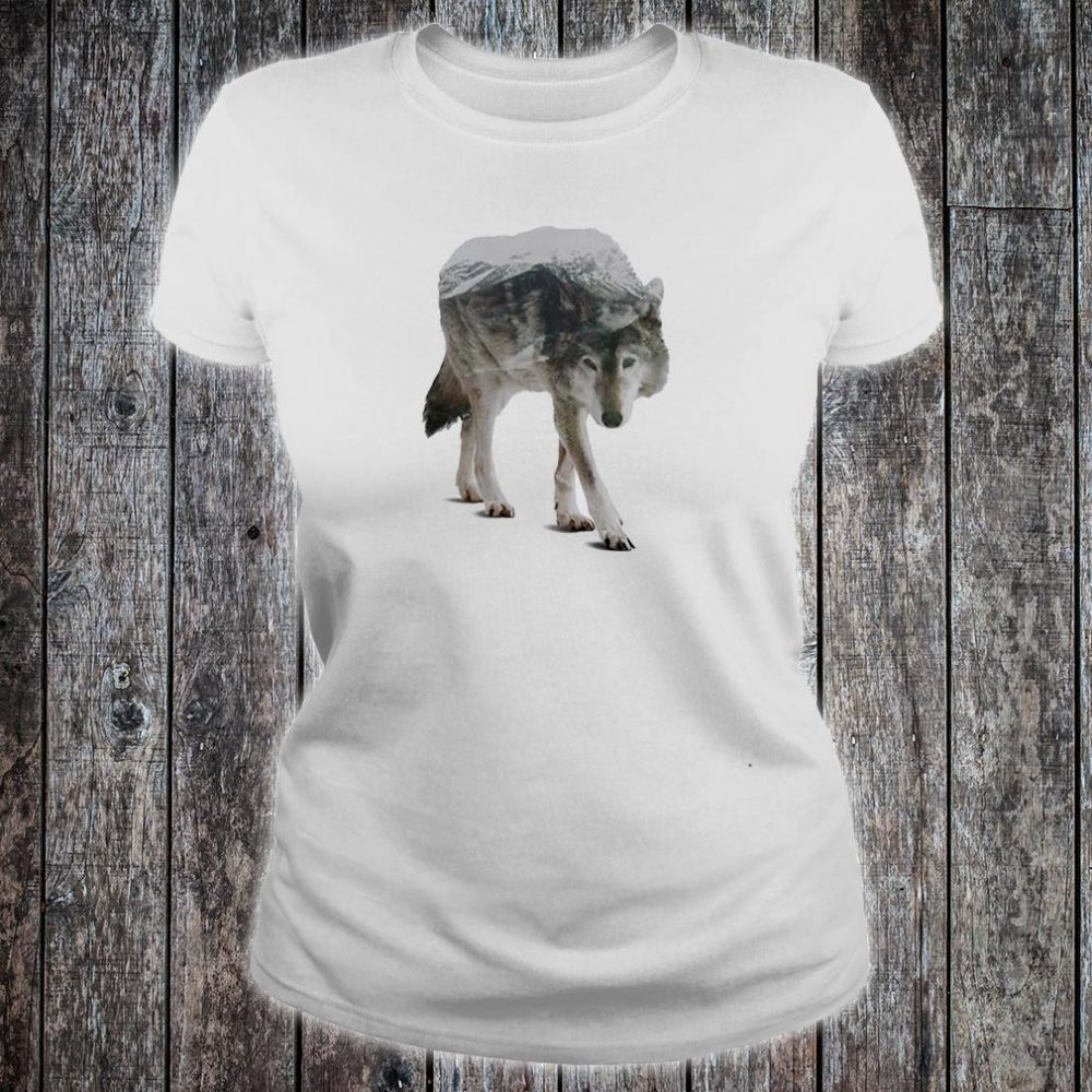 Wolf double seeing shirt ladies tee