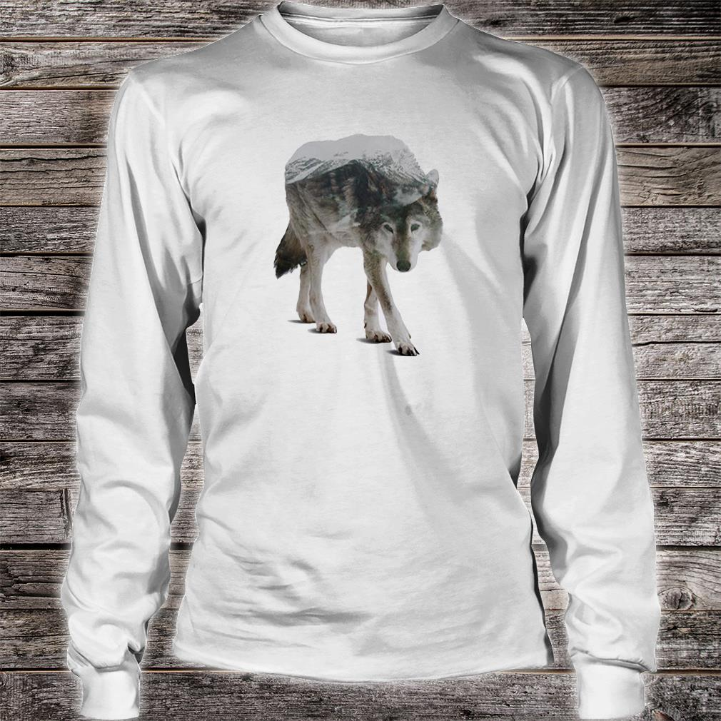 Wolf double seeing shirt long sleeved