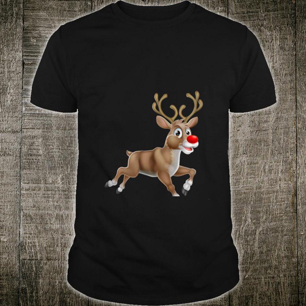 Womens Festive Reindeer Shirt