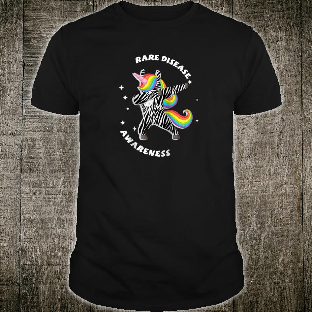 Womens Unicorn Rare Illness Awareness Zebra Disease Shirt